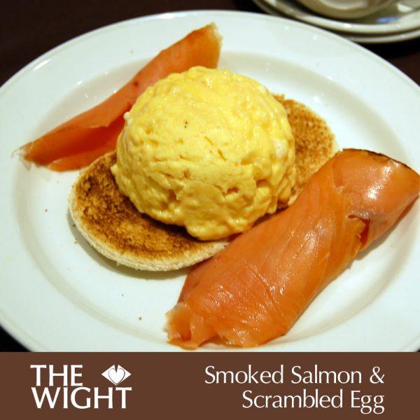 Smoked salmon & scrambled egg